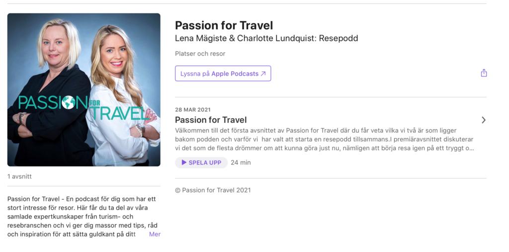Passion for Travel Charlotte och Lena